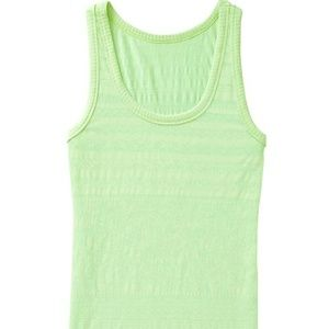 Athleta Back To Basics Lace Stripe Tank Top S Pale
